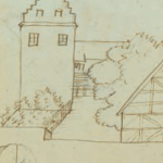 H.C. Andersens erindringstegning af Odense Adelige Jomfrukloster