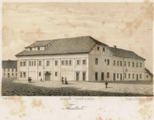 I 1795 blev Odense Comediehus således indviet på torvet