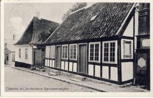 H.C. Andersens barndomshjem fra han var to til han blev fjorten.