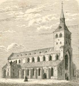 Kirken som den så ud da H.C. Andersens forældre blev gift.