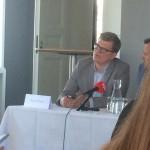 Ronni Nielsen til pressemøde på Odense Rådhus til annonceringen af Tinderbox Festival