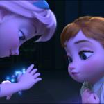 De unge prinsesser Elsa, Snedronning og hendes lille søster Anna vil lave en snemand