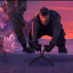 Kristoff og hans følgesvend, elgen Svenn - Det Frosne Hjertes Slag - Disney - Frozen - Frost